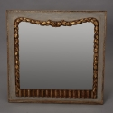 French Square Mirror With Garland Surround