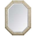 Mid Century Maitland Smith Tesselated Stone and Brass Mirror