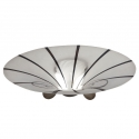 Ikora Mid Century Modernist Chrome and Enamel Pedestal Bowl