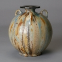 Roger Guerin Round Vase With Three Handles