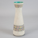Mid Century White German Floor Vase