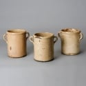 Large Italian Ceramic Cream Pots