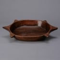 Wooden Bowl With Triple Handles