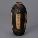 Bretby Clanta Ware Black and Gold Vase