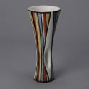 Roger Capron Vallauris Striped Pierced Ceramic Vase