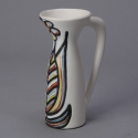 Roger Capron Vallauris Ceramic Pitcher with Flower