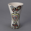 Roger Capron Valllauris Ceramic Vase with Bird