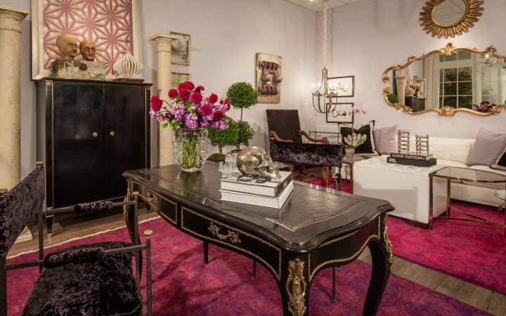 Photo of Pied-a-Terre designer vignette display at Judy Frankel Antiques