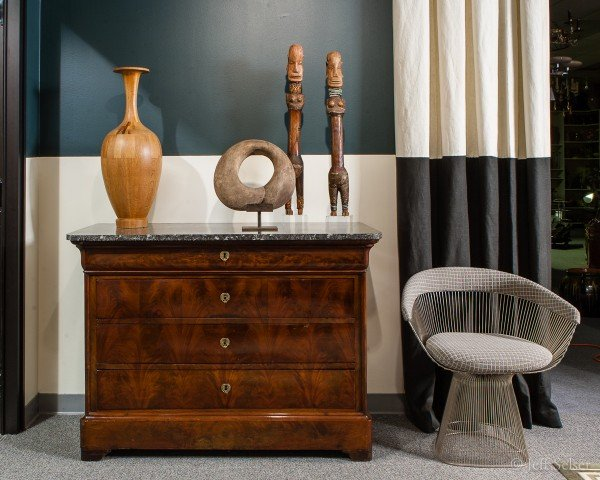 "Photo of ""The Game is On"" designer vignette display at Judy Frankel Antiques"