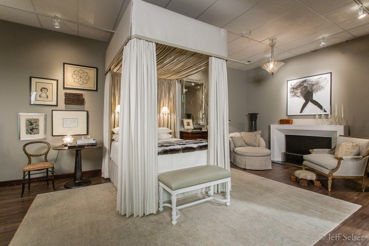 Photo of A Timeless Retreat designer vignette display at Judy Frankel Antiques